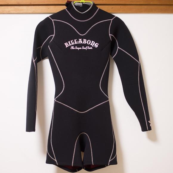 BILLABONG 中古ウェットスーツ ロングスプリング Ladies front bno96291122a