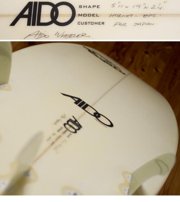 AIDO HORNET EPS 中古ショートボード 5`11 condition/repair bno96291126e