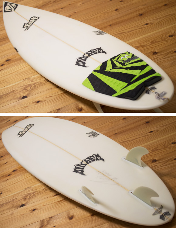 LOST WHIPLASH XTR 中古ショートボード 6`5 deck/bottom-detail bno96291128b