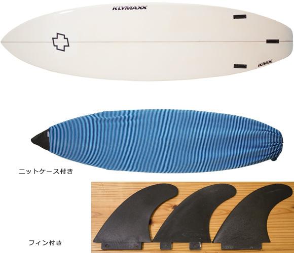 KLYMAXX エポキシ 中古ショートボード 6`3 bottom/ニットケース bno96291142a