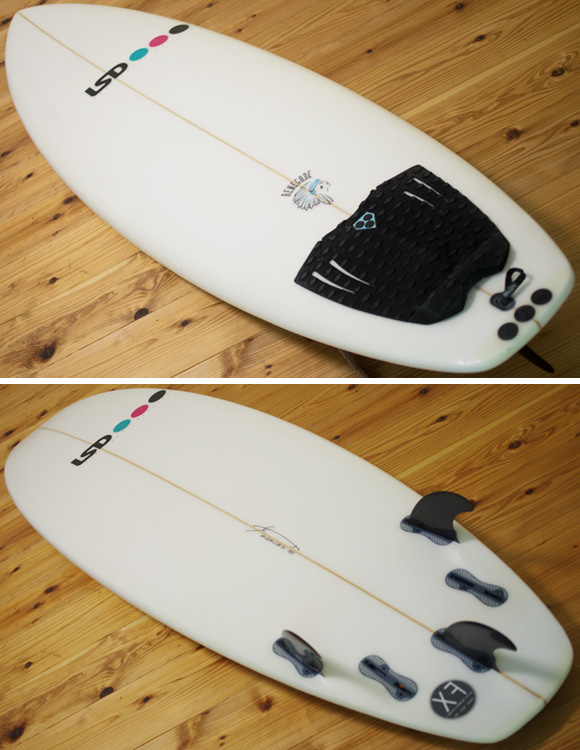 LSD RENEGADE EPS 中古ショートボード 6`4 deck/bottom-detail bno96291144b