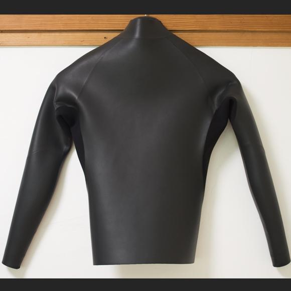 Amsterdam 中古ウェットスーツ 長袖タッパー フロントジップ  Men's ML back bno96291157b
