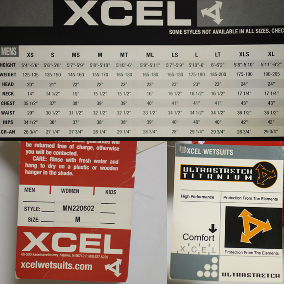 XCEL 中古ウェットスーツ長袖タッパー XCELERATOR ULTRAFLEX 2.0 size/tag bno96291161d