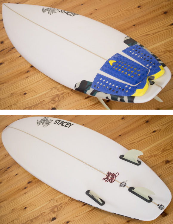 ステイシー BOUNTY HUNTER 中古ショートボード 6`0 deck/bottom-detail bno96291172b
