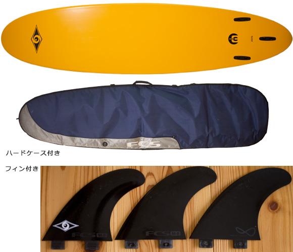 BIC SPORT 中古ファンボード 7`6 bottom/ハードケース bno96291183a