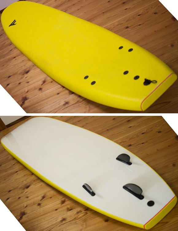 ソフトボード FROW 中古ロングボード 9`0 deck/bottom-detail bno96291200b