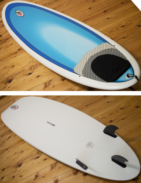 NSP 中古ファンボード 7`6 EPOXY deck/bottom-detail bno96291203b