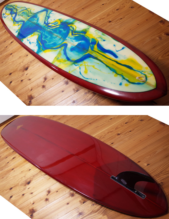 JOEL TUDOR papa joe 中古ロングボード 9`0 deck/bottom-detail bno96291205b