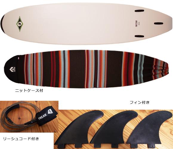 BIC SPORT 中古ファンボード 7`9 bottom/ニットケース bno96291207a
