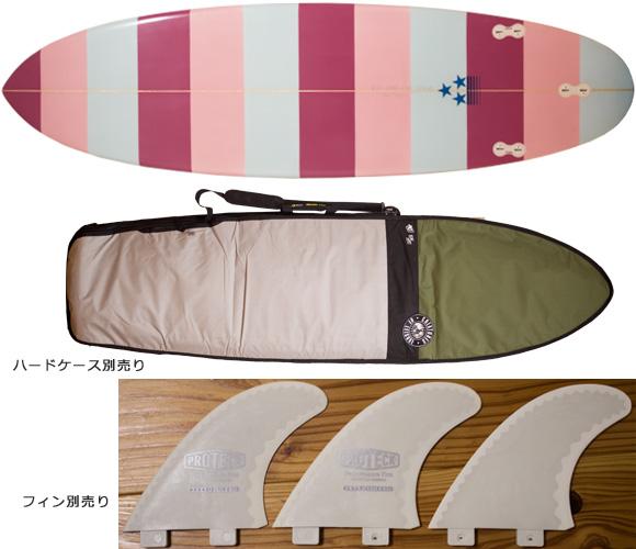 初心者向け・中古ファンボード 6`6 bottom/ハードケース bno96291209a