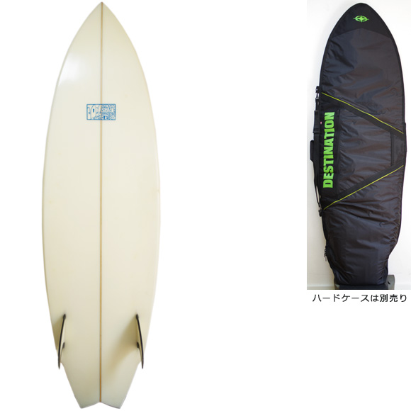 JOEL TUDOR 中古ショートボード 80's TWIN FISH 5`10 deck/bottom bno9629928a