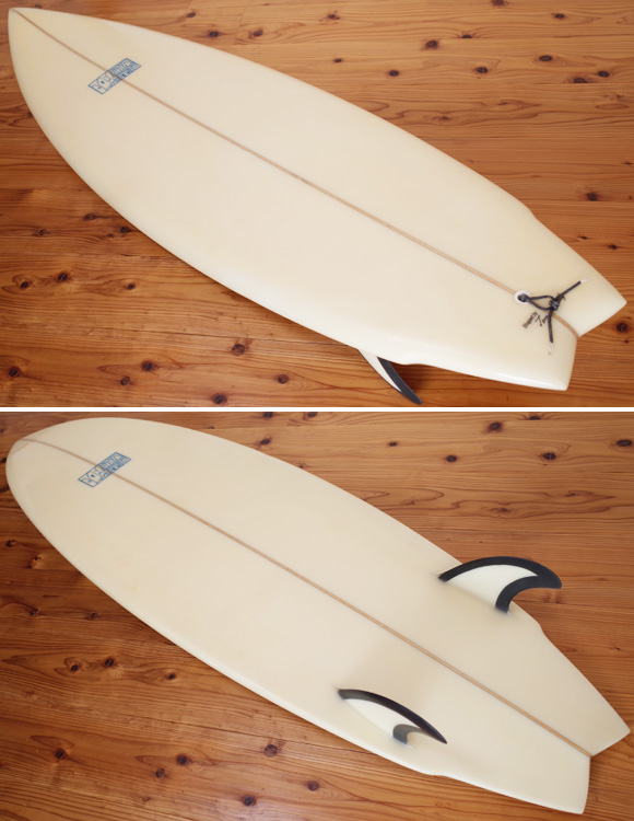 JOEL TUDOR 中古ショートボード 80's TWIN FISH 5`10 deck/bottom bno9629928im1