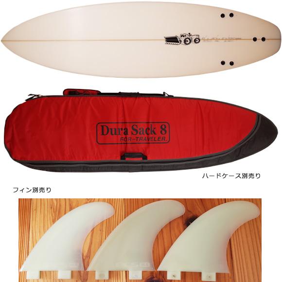 JS 中古ショートボード 6`3 JAPAN MODEL bottom/fin 96291230