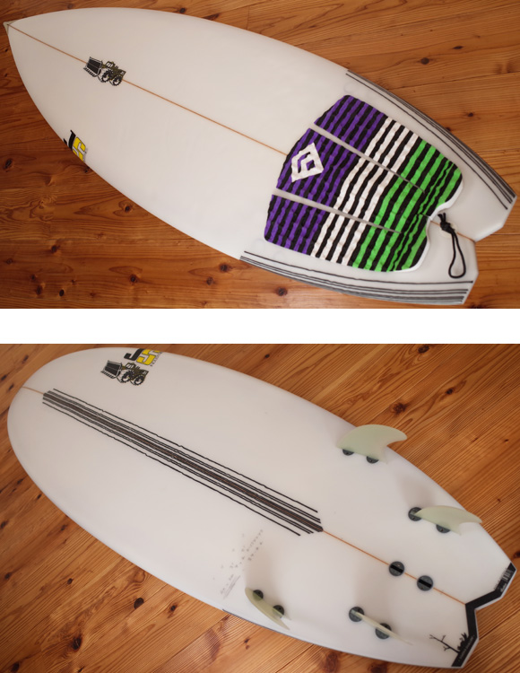 JS 中古ショートボード 6`0 DROPPED SWALLOW deck/bottom 96291232