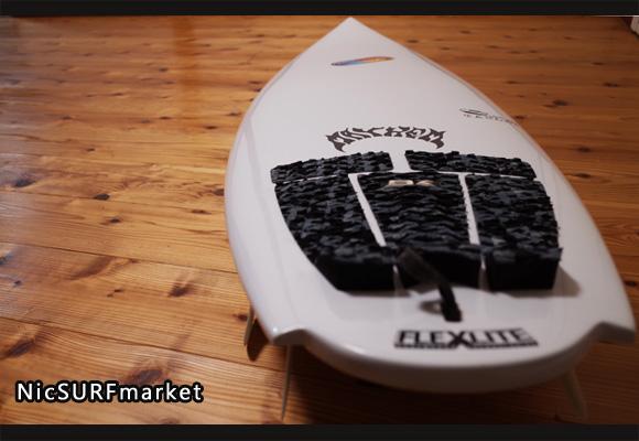 プレセボ タブレット 中古ショートボード 6`2 deck-detail 96291235
