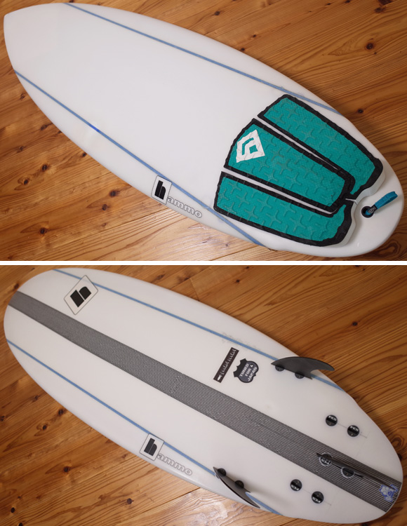 Hammo Pocket Rocket 中古ショートボード 5`4 deck/bottom No.96291250