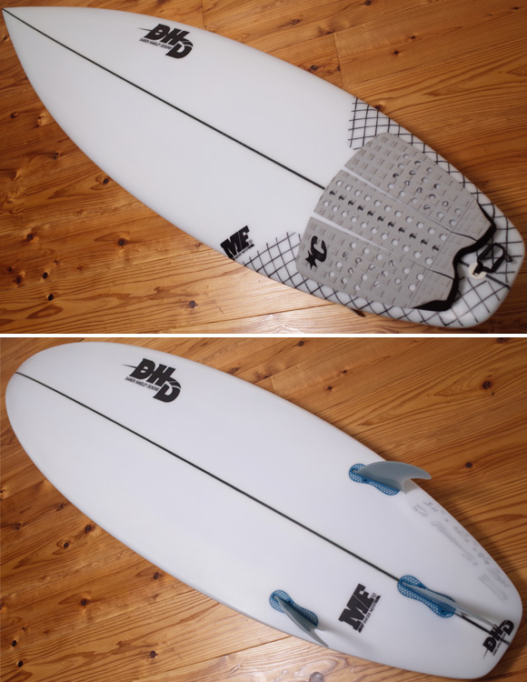 DHD 中古ショートボード 5`11 MF DUCKS NUTS deck/bottom No.96291258