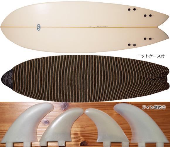 CROSS GEAR Ⅱ 中古フィッシュボード 6`2 fin/ニットケース No.96291263
