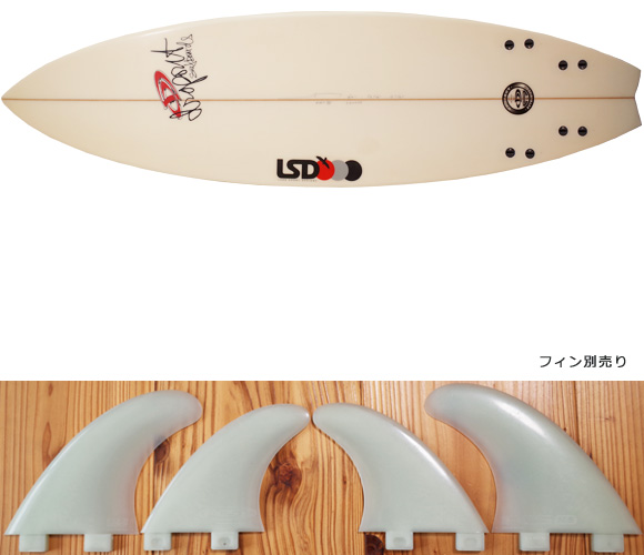 DROPOUT + LSD 中古ショートボード 6`0 fin/option No.96291267