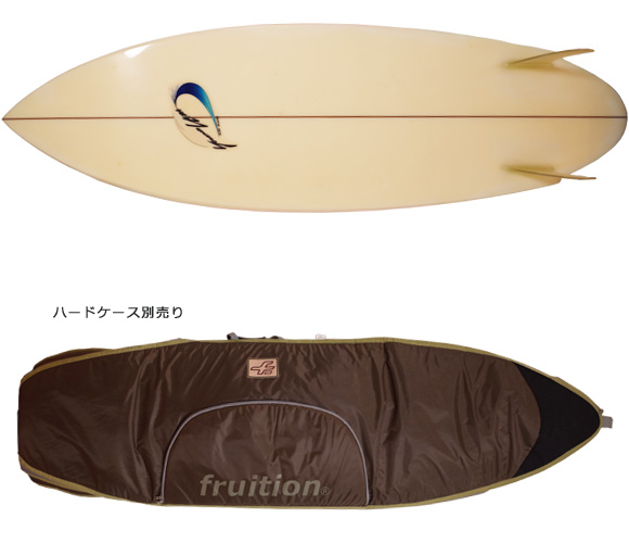 Yoshinori Ueda Surfboards 80`S 中古/Vintage TWIN FIN 5'10 fin/boardcase No.96291273