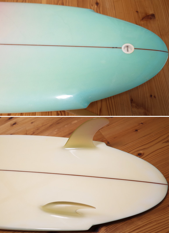Yoshinori Ueda Surfboards 80`S 中古/Vintage TWIN FIN 5'10 tail No.96291273