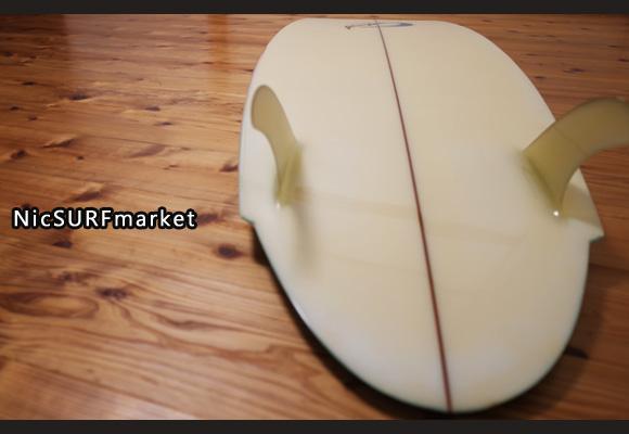 Yoshinori Ueda Surfboards 80`S 中古/Vintage TWIN FIN 5'10 bottom-design No.96291273