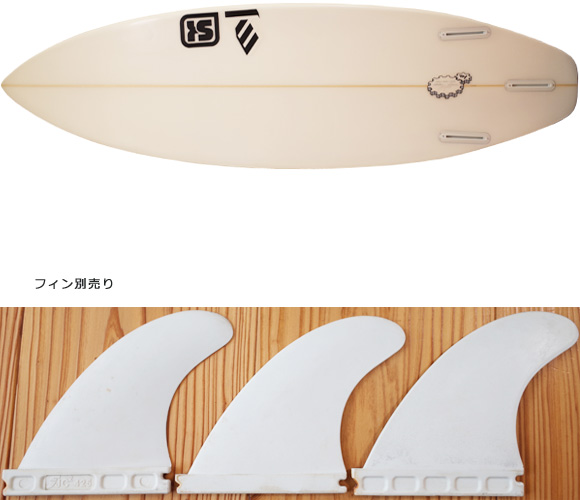 SK SURFBOARD FY 中古ショートボード 5`10 fin/option No.96291281