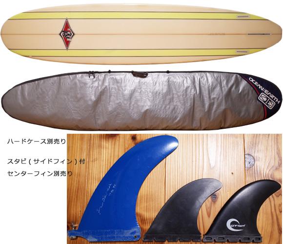 BEAR 中古ロングボード 9`0 Custom fin/ハードケース No.96291282
