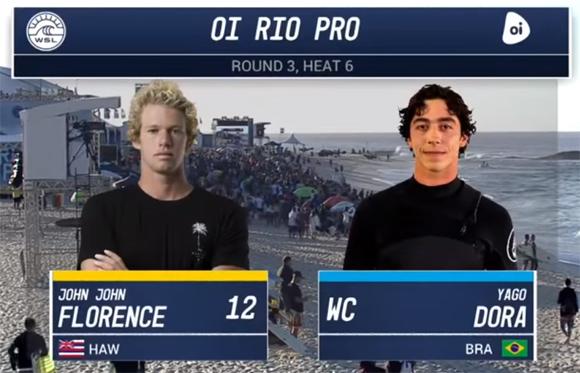 Oi Rio Pro 2017-Round Three, Heat 6/John John Florence vs. Yago Dora
