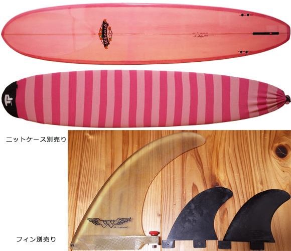 Whoosh SURFBOARD 中古ロングボード 9`1 NOSERIDER fin/ニットケース No.96291288