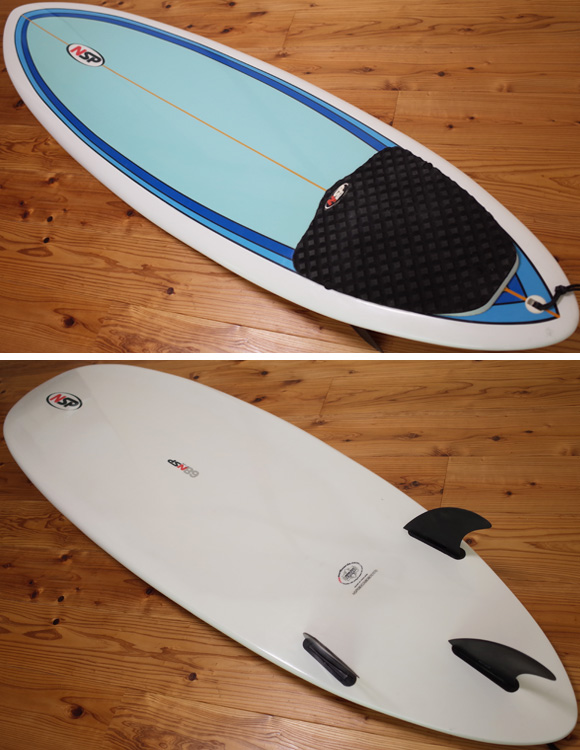 NSP 中古ファンボード 6`8 EPOXY deck/bottom No.96291289