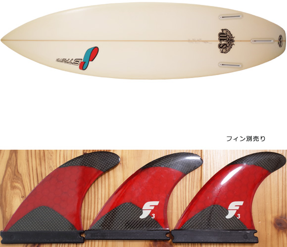 STRETCH S10 EPS 中古ショートボード 6`1 fin/option No.96291290
