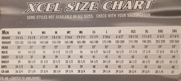 XCEL 中古タッパー POLYPRO メンズ size chart No.96291301
