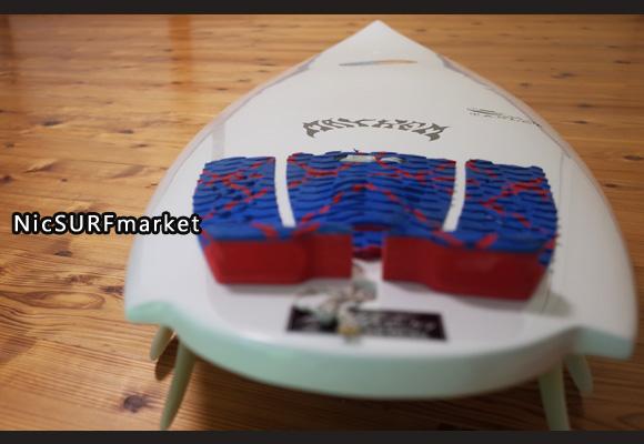 プレセボ タブレット 中古ショートボード 6`2 deck-detail No.96291321