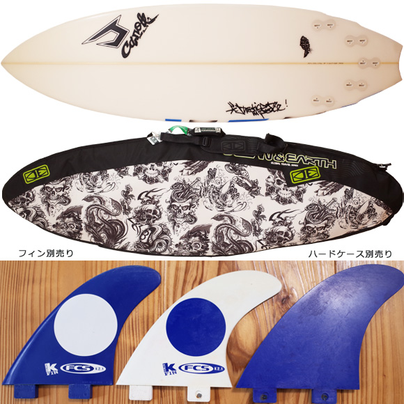JUSTICE SNAPPER TRUST 中古ショートボード 5`10 fin/ハードケース No.96291324