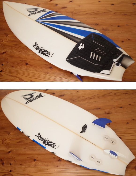 JUSTICE SNAPPER TRUST 中古ショートボード 5`10 deck/bottom No.96291324