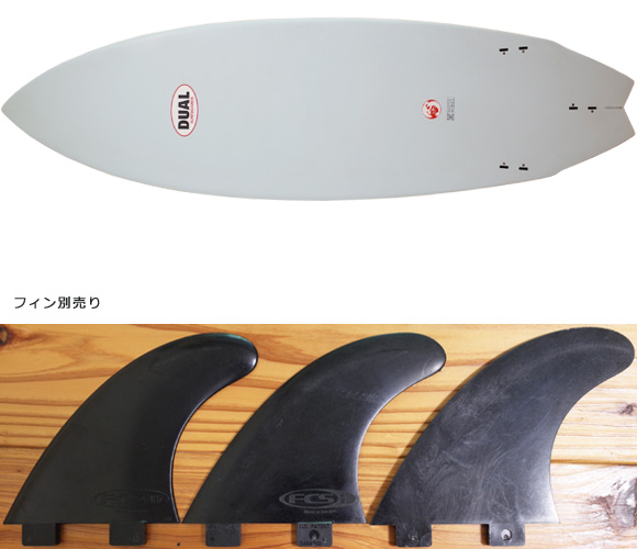 DUAL Surfboard EPS 中古ショートボード 5`11 MASTER WORKS fin/option No.96291326
