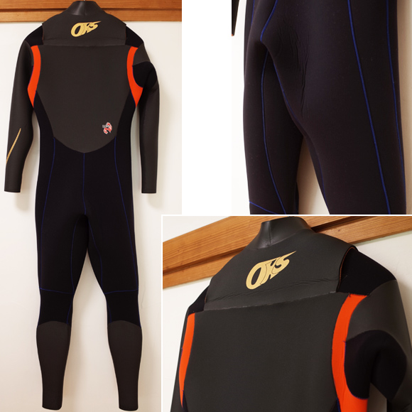 OCEANKIDS-OKS 中古ウェットスーツ セミドライ 5/3mm メンズ back No.96291330