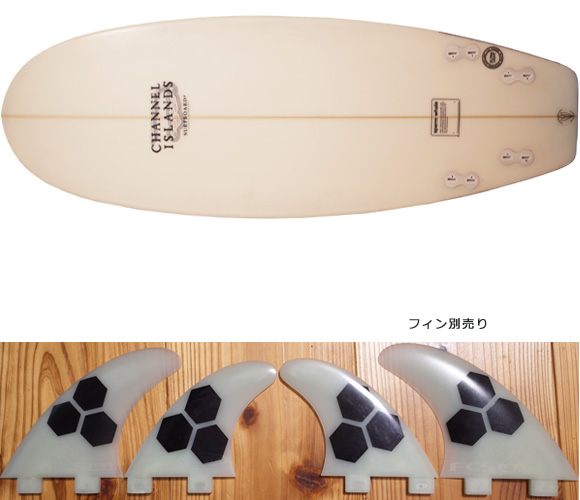 Channel Islands Sperm Whale 中古ショートボード 5`3 fin/option No.96291333