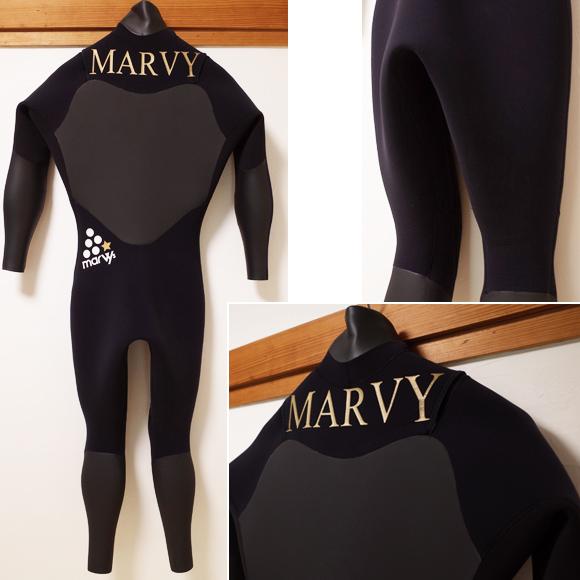 MARVY 中古ウェットスーツ セミドライ 5/3mm メンズ back No.96291337