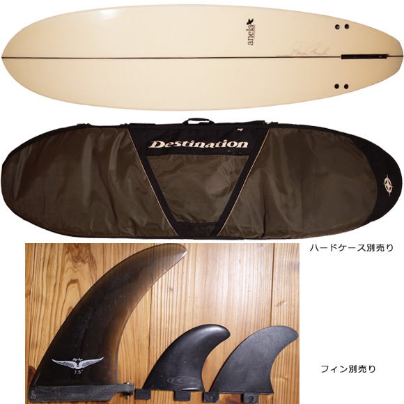 アネラ CUSTOM 中古ファンボード 7`0 マメ増田 fin/ハードケース No.96291346