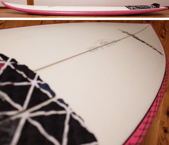 ティミー・パターソン チョップド・クラム 中古ショートボード 5`11 deck-condition No.96291354