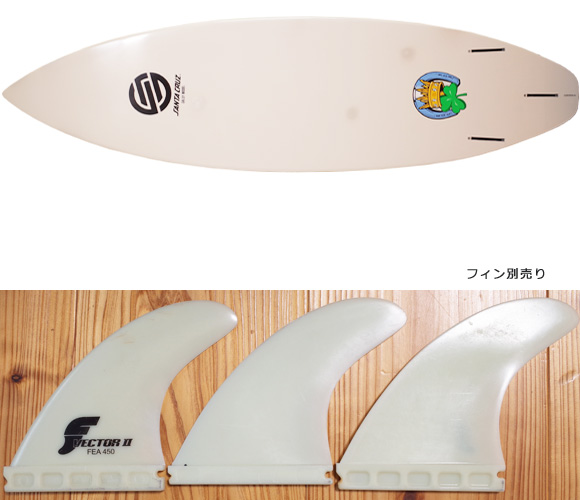 Santa Cruz GALLY 中古ショートボード 6`1 TUFLITE fin/option No.96291368