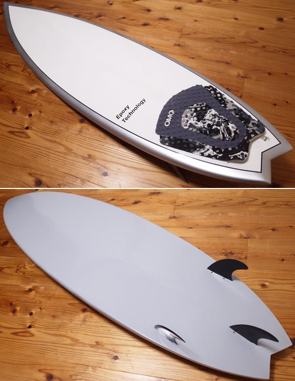 EPOXY 中古ショートボード 5`10 deck/bottom No.96291370