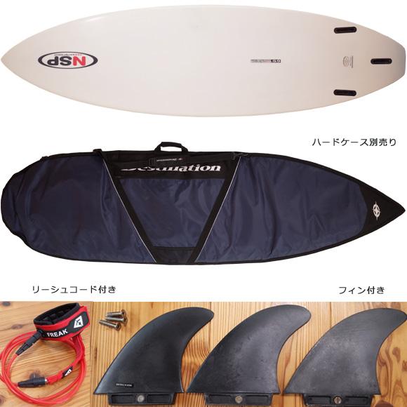 NSP 中古ショートボード 6`6 EPOXY fin/ハードケース No.96291372