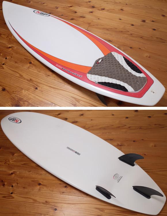 NSP 中古ショートボード 6`6 EPOXY deck/bottom No.96291372
