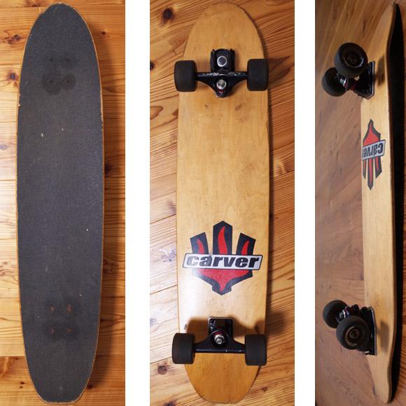 CARVER カーバー 中古スケートボード 39インチ deck/bottom No.96291385