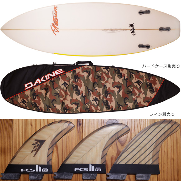 Timmy Patterson STALKER 中古ショートボード 6`0 fin/option No.96291350