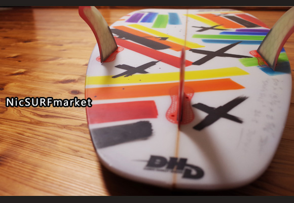 DHD 中古ショートボード 5`10 DX1 JF ジャックフリーストン bottom-design No.96291395