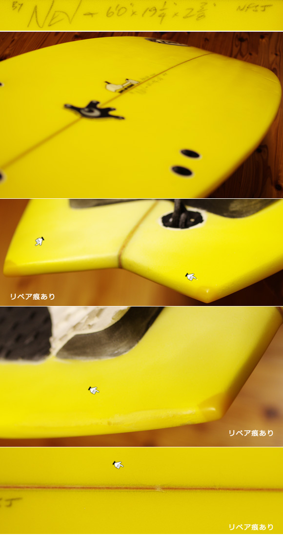 NEV サーフボード 中古ショートボード 6`0 NFIJ condition-1 No.96291420